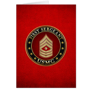 U.S. Marines: First Sergeant (USMC 1stSgt) [3D] Card