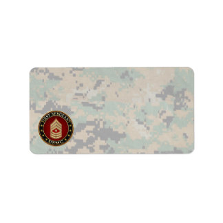 U.S. Marines: First Sergeant (USMC 1stSgt) [3D] Label