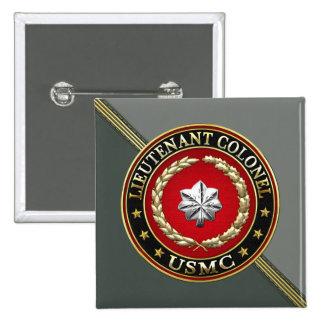 U.S. Marines: Lieutenant Colonel (USMC LtCol) [3D] 2 Inch Square Button