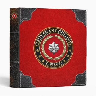 U.S. Marines: Lieutenant Colonel (USMC LtCol) [3D] 3 Ring Binders