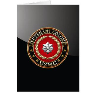 U.S. Marines: Lieutenant Colonel (USMC LtCol) [3D] Card