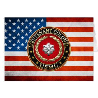 U.S. Marines: Lieutenant Colonel (USMC LtCol) [3D] Greeting Card
