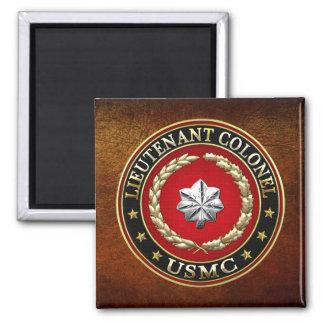 U.S. Marines: Lieutenant Colonel (USMC LtCol) [3D] Square Magnet