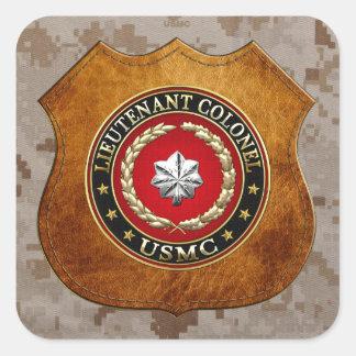 U.S. Marines: Lieutenant Colonel (USMC LtCol) [3D] Square Sticker