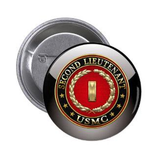 U.S. Marines: Second Lieutenant (USMC 2ndLt) [3D] 2 Inch Round Button