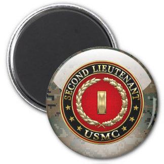 U.S. Marines: Second Lieutenant (USMC 2ndLt) [3D] 2 Inch Round Magnet