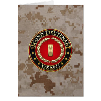 U.S. Marines: Second Lieutenant (USMC 2ndLt) [3D] Card
