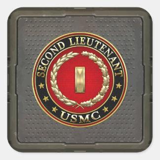 U.S. Marines: Second Lieutenant (USMC 2ndLt) [3D] Square Sticker
