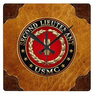 U.S. Marines: Second Lieutenant (USMC 2ndLt) [3D] Wall Clocks