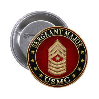 U.S. Marines: Sergeant Major (USMC SgtMaj) [3D] 2 Inch Round Button