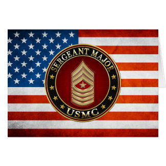 U.S. Marines: Sergeant Major (USMC SgtMaj) [3D] Card