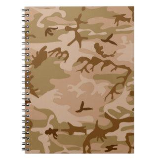 U.S. Military Desert Sand Camouflage Notebooks