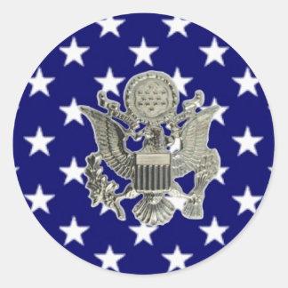 u.s. military insignia classic round sticker