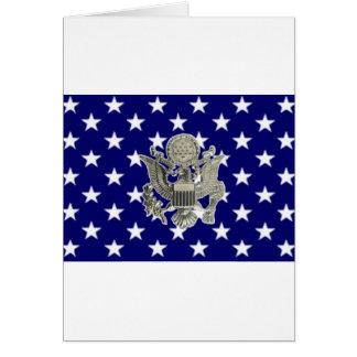 u.s. military insignia greeting card