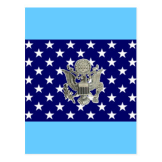 u.s. military insignia postcard