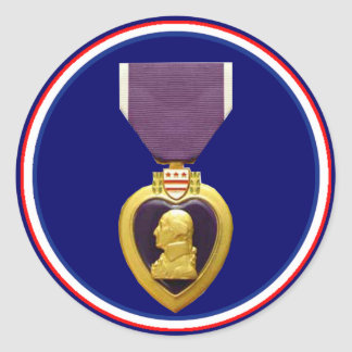 U.S. Military Purple Heart Medal Sticker