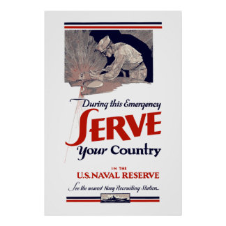 U.S. Naval Reserve - Serve Your Country Poster