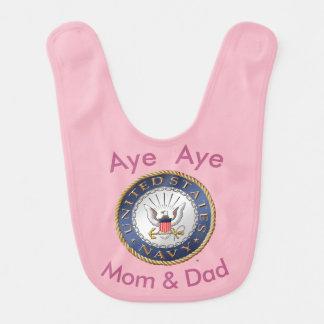 U.S. Navy Baby Bib