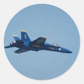 U.S. Navy Blue Angels, F-18 Hornet Classic Round Sticker