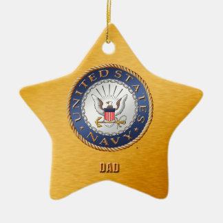 U.S. Navy Dad Ceramic Ornament