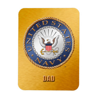 U.S. Navy Dad Flexible Photo Magnet
