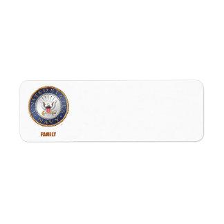 U.S. Navy Family Address Label