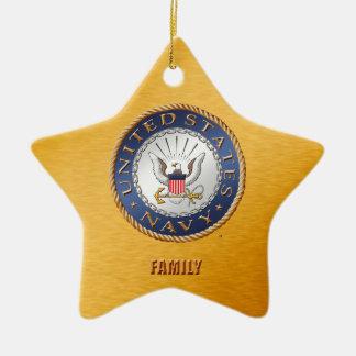U.S. Navy Family Ceramic Ornament