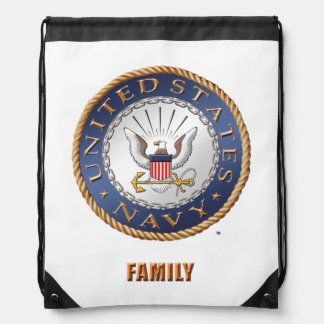 U.S. Navy Family Drawstring Backpack