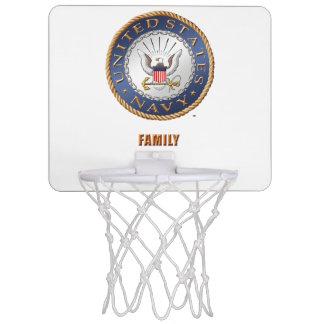U.S. Navy Family Mini Basketball Hoop