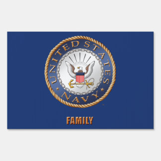 U.S. Navy Family Yard Sign