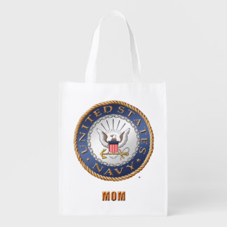 U.S. Navy Mom Grocery Bag