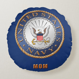 U.S. Navy Mom Round Pillow
