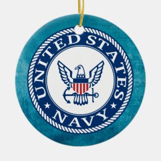 U.S. Navy | Navy Alt Emblem Round Ceramic Ornament