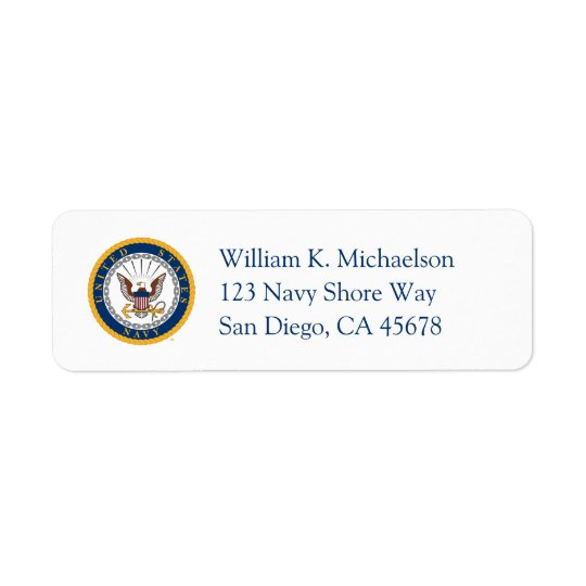 U.S. Navy | Navy Emblem Return Address Label