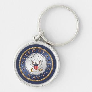 U.S. Navy Premium Round Keychain