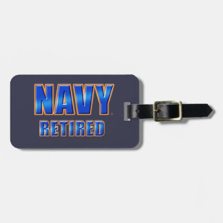 U.S. Navy Retired Luggage Tag w/ leather strap