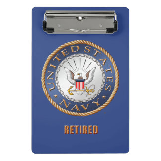 U.S. Navy Retired Mini Clipboard