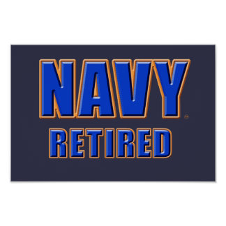 U.S. Navy Retired Poster