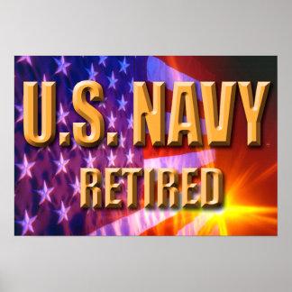 U.S. Navy Retired Poster
