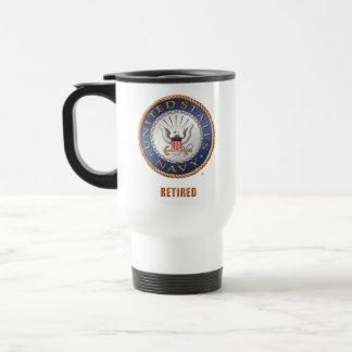 U.S. Navy Retired Travel/Commuter Mug