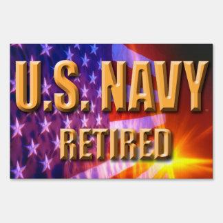 U.S. Navy Retired Yard Sign