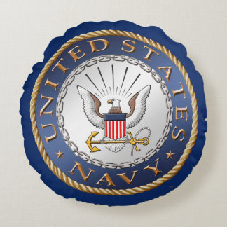 U.S. Navy Round Pillow