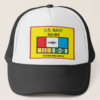 U.S. NAVY SEA BEE VIETNAM VETERAN TRUCKER HAT