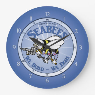 U.S. Navy Seabee Large Clock