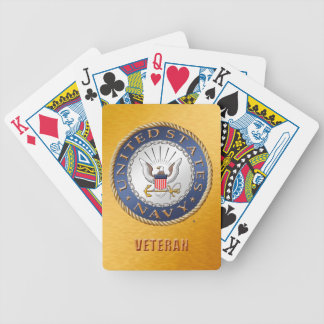 U.S. Navy Veteran Bicycle Playing Cards