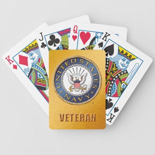 U.S. Navy Veteran Bicycle Playing Cards