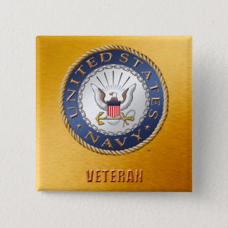 U.S. Navy Veteran Button
