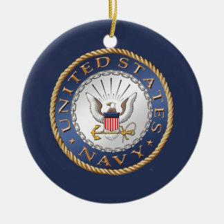 U.S. Navy Veteran Ceramic Ornament