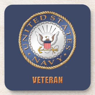U.S. Navy Veteran Hard plastic coaster