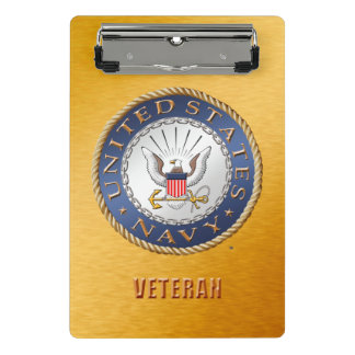 U.S. Navy Veteran Mini Clipboard